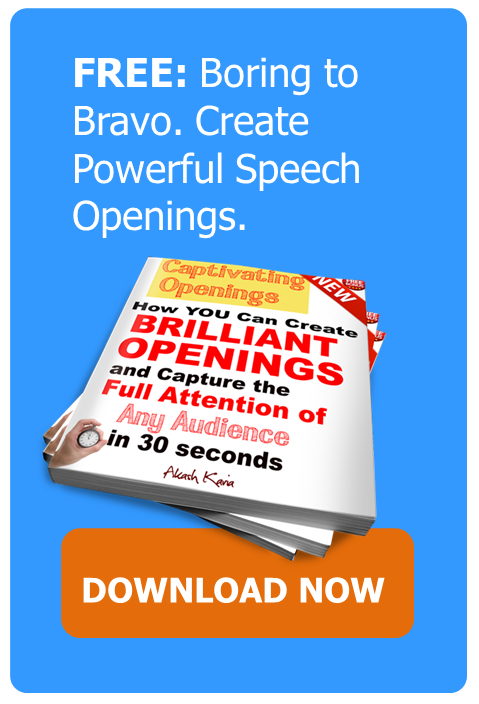 SPEECH OPENINGS